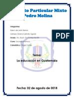 La Educacion en Guatemala