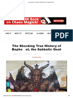 The Shocking True History of Baphomet, The Sabbatic Goat