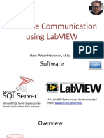 Database Communication Using LabVIEW Video