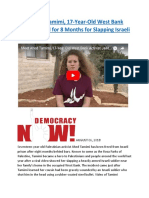 Meet Ahed Tamimi, 17-Year-Old West Bank Activist Jailed for 8 Months for Slapping Israeli Soldier.docx