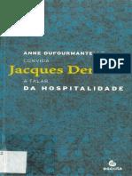 Da hospitalidade Jacques Derrida