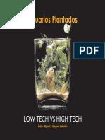 Acuarios Plantados LOW TECH vs HIGH TECH. Autor_ Miguel S. Bayona Valentín