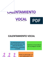 Calentamiento Vocal