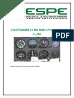 Clasificación de Los Instrumentos de Vuelo