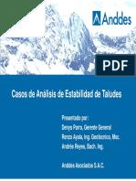 Casos de Análisis de Estabilidad de Taludes, GeoGroup 2013