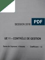 DCG Controle de Gestion 2018