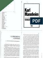 Mannheim - O Conceito Sociológico Do Pensamento.