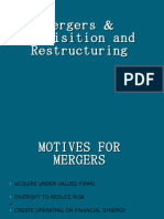 Mergers & Acquisition and Restructuring