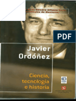 Cienca, tecnología e historia, Javier Ordóñez