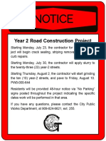 Annual Paving Project Info (Updated 7-30-2018)