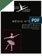2010-2011 Central Indiana Dance Ensemble Advertising Media Kit