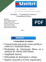Apresentação_Criminalidade Econômica e Criminalidade de Massa