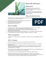Defeciencies and Toxicity in Rice