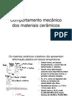 Comportamento mecânico dos materiais cerâmicos