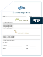 conference request form