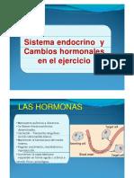 Sistema Endocrino y Cambios Hormonales en El Ejercicio