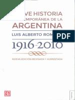 Romero, Luis Alberto_Breve Historia Contemporánea de La Argentina