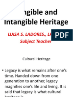 Tangible and Intangible Heritage