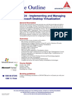 Implementing and Managing Microsoft Desktop Virtualization
