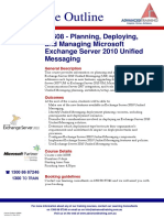 Planning Deploying and Managing Microsoft Exchange Server 2010 Unified Messaging