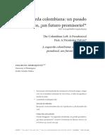 Bergquist, Charles. La Izquierda Colombiana. Un Pasado Paradójico, Un Futuro Promisorio