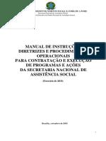 Manual de Diretrizes e Procedimentos Operacionais