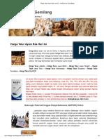 Harga Telur Ayam Ras Hari Ini - Ardhi Borneo Gemilang