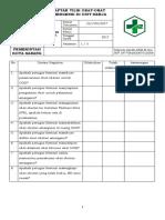 8.2.6.3 Daftar Tilik Penyediaan Obat Emergensi Di Unit Kerja