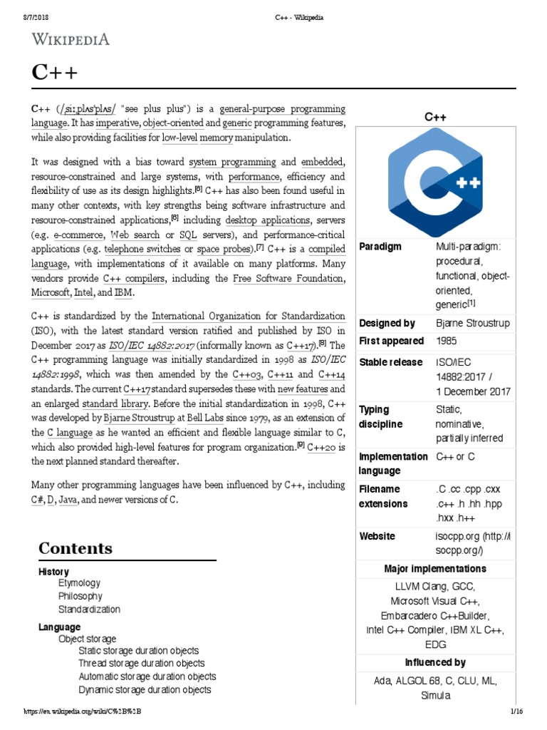 C++ - Wikipedia  f4cf1c403