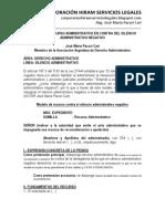 Modelo de Recurso Administrativo en Contra Del Silencio Administrativo Negativo -Autor José María Pacori Cari