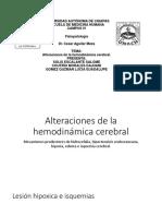 Alteraciones de la hemodinámica cerebral - copia