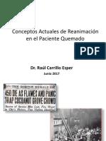 Reanimación del paciente quemado Dr Carrillo Asper