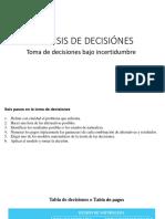 Análisis de Decisiónes