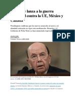 EE UU Se Lanza a La Guerra Comercial Contra La UE[1]