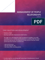 Management of People Relationships