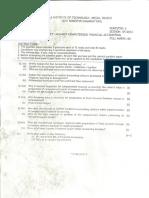 BITS MCA Financial Accounting Q Paper
