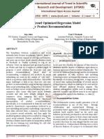Survey Kernel Optimized Regression Model for Product Recommendation