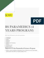 KMU Paramedical List.