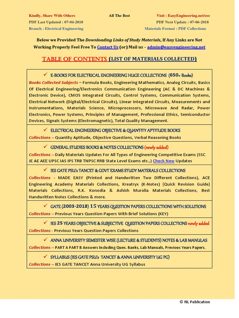 Tancet Study Material For Eee Pdf