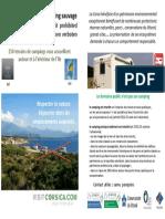 Non au camping sauvage en Corse