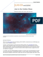 Strange Stars Pulse to the Golden Mean