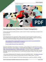 Mathematicians Discover Prime Conspiracy