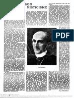 Bergson y el misticismo