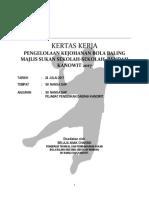 Kertas Kerja Handball-peringkat Daerah 2017