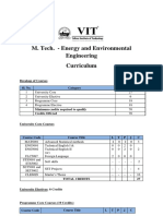 M.tech. Energy Environmental Engineering Curriculum _ Syllabus