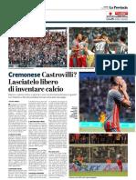La Provincia Di Cremona 07-08-2018 - Cremonese