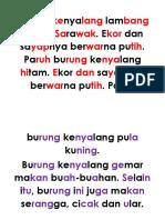 Burung Kenyalang Lambang Negeri Sarawak
