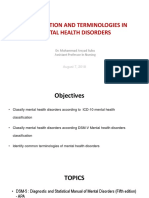 Classifications and Terminologies in Mental Health Disorders