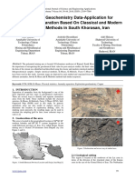 Exploration Geochemistry Data-Application for Cu Anomaly Separation Based On Classical and Modern Statistical Methods in South Khorasan, Iran