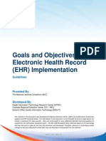 Goals and Objectives for Ehr Implementation